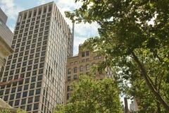 Costruzioni alte del grattacielo Immagini Stock Libere da Diritti