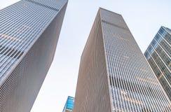 Costruzioni alte della città Ufficio e concetto di affari Immagini Stock Libere da Diritti