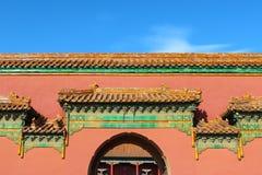 Costruzioni antiche della Cina nel palazzo imperiale Fotografia Stock