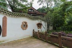 Costruzioni antiche della montagna del qingcheng di Sichuan Fotografia Stock Libera da Diritti