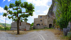 Costruzioni antiche Monieux Francia Fotografia Stock