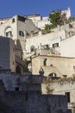 Costruzioni antiche nel distretto storico di Sassi di Matera Fotografia Stock Libera da Diritti