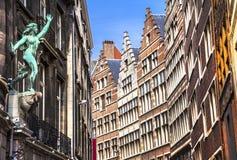 Costruzioni a Antwerpen belgium fotografia stock libera da diritti