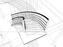 Costruzioni astratte delle scale a spirale della riga Fotografie Stock