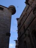 Costruzioni a Barcellona fotografie stock