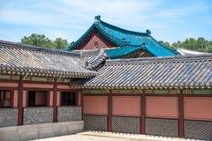 Costruzioni ben conservato nel complesso del palazzo di Changdeokgung Fotografia Stock Libera da Diritti