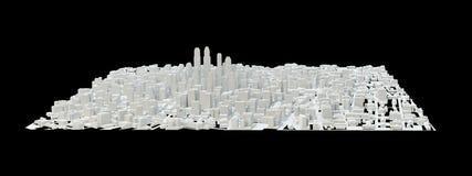 Costruzioni bianche della città Fotografie Stock Libere da Diritti