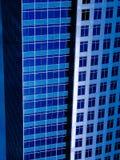 Costruzioni blu moderne Fotografia Stock
