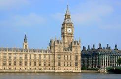 Costruzioni britanniche del Parlamento Fotografie Stock Libere da Diritti