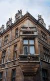 Costruzioni BRITANNICHE della pietra del centro urbano di Cambridge Fotografia Stock