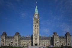 Costruzioni canadesi del Parlamento Fotografia Stock Libera da Diritti