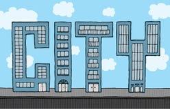 Costruzioni che formano città Immagini Stock
