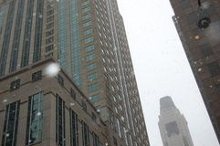 Costruzioni in Chicago, Illinois Fotografia Stock