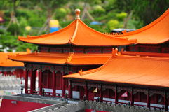 Costruzioni cinesi miniatura Fotografia Stock