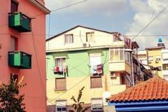 Costruzioni Colourful di comunismo immagini stock