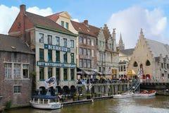 Costruzioni Colourful gand belgium fotografia stock