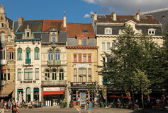 Costruzioni Colourful in Sint-Baafsplein gand belgium immagini stock libere da diritti