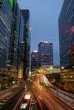 Costruzioni commerciali a Hong Kong centrale immagine stock libera da diritti