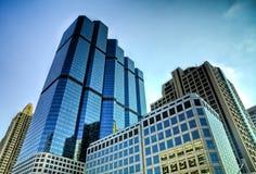 Costruzioni corporative in HDR Fotografie Stock Libere da Diritti