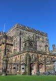 Costruzioni in cortile dentro il castello di Lancaster immagini stock libere da diritti