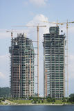 Costruzioni in costruzione Fotografie Stock Libere da Diritti