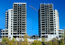Costruzioni in costruzione Immagini Stock Libere da Diritti