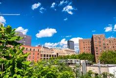 Costruzioni dall'alta linea parco, New York Fotografie Stock Libere da Diritti