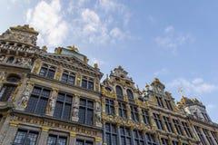 Costruzioni decorate a Bruxelles Fotografia Stock Libera da Diritti