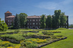 Costruzioni del castello di Wawel Fotografia Stock Libera da Diritti
