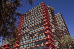 Costruzioni del centro del condominio e dell'ufficio Fotografia Stock Libera da Diritti
