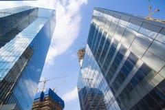 Costruzioni del centro di affari moderno Fotografia Stock