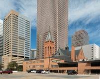 Costruzioni del centro moderne e storiche a Denver fotografia stock libera da diritti