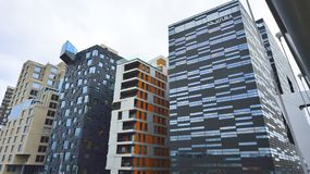 Costruzioni del centro urbano di Oslo Fotografia Stock Libera da Diritti