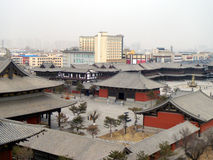 Costruzioni del classico cinese nella città del datong Fotografia Stock Libera da Diritti