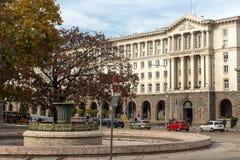 Costruzioni del Consiglio dei Ministri in città di Sofia, Bulgaria Fotografia Stock Libera da Diritti