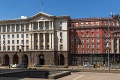 Costruzioni del Consiglio dei Ministri in città di Sofia, Bulgaria fotografie stock