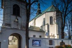 Costruzioni del convento nella città di Radomsko in Polonia centrale Fotografie Stock Libere da Diritti