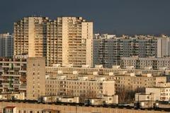 Costruzioni del distretto residenziale a Mosca Immagini Stock Libere da Diritti