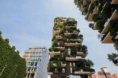 Costruzioni del giardino di Veritcal a Milano Fotografia Stock
