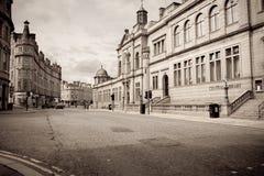 Costruzioni del granito di Aberdeen immagine stock libera da diritti