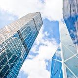 Costruzioni del grattacielo dell'ufficio Fotografie Stock