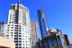 Costruzioni del grattacielo a Melbourne Immagine Stock