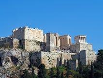Costruzioni del greco antico, acropoli, Atene, Grecia Immagine Stock