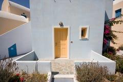 Costruzioni del Greco di Santorini Fotografia Stock Libera da Diritti