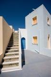 Costruzioni del Greco di Santorini Fotografia Stock