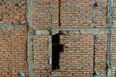 Costruzioni del muro di mattoni nell'ambito di istruzione Fotografie Stock Libere da Diritti