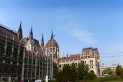 Costruzioni del Parlamento a Budapest Ungheria Fotografia Stock Libera da Diritti
