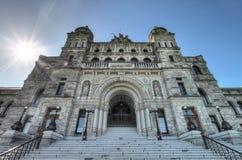 Costruzioni del Parlamento della Columbia Britannica fotografie stock libere da diritti
