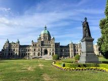 Costruzioni del Parlamento della Columbia Britannica in Victoria Immagine Stock