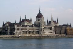 Costruzioni del Parlamento di Budapest Ungheria Fotografia Stock